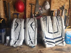 "27"" and 28"" + 1 Goalie Pads For Sale"