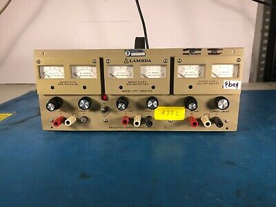 Lambda Model Lpt-7202-fm Regulated Triple Output Power Supply As-is