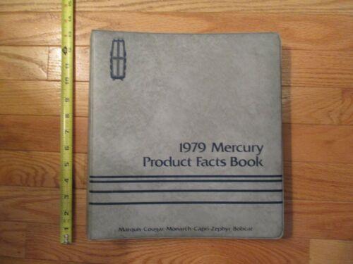 1979 Mercury producy Facts Book Car Dealership dealer Sales Item Guide