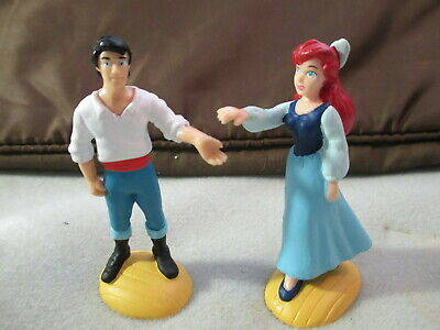 DISNEY The LITTLE MERMAID - ARIEL & ERIC PVC Figures Applause- Cake Toppers-NEW](Little Mermaid Cake Toppers)
