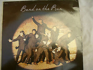 McCARTNEY / WINGS LP BAND ON THE RUN rare French yellow vinyl pathe marconi