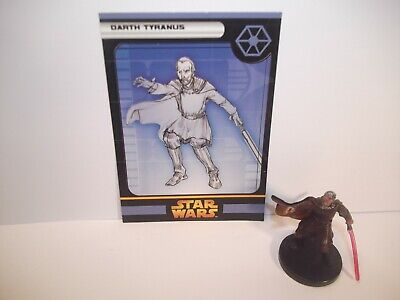 Star Wars Miniatures - Darth Tyranus 29/60 + Card - Rare - ROTS