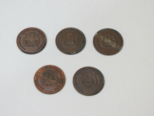 Lot of 3 Vintage Triborough Bridge And Tunnel Authority Tokens