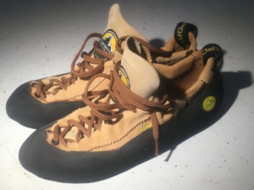 La Sportiva Mythos Climbing Shoes, Terra, Unisex, M9.5/W10.5/Eur42.5 Worn Once
