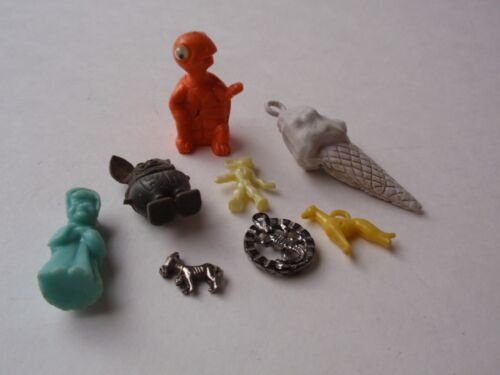 Vintage Group Lot Cracker Jack Toys Gumball Machine Prizes Spaceman Dog