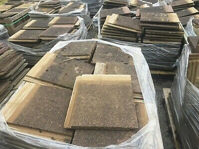 Reclaimed / Second-hand Redland Stonewold mk2 Roofing Tiles
