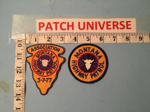LOT OF TWO  DIFFERENT MONTANA  HIGHWAY PATROL   PATCHES  O025