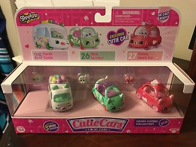 Candy Cars (Shopkins Cutie Cars 3 Pack - Candy Combo Collection)