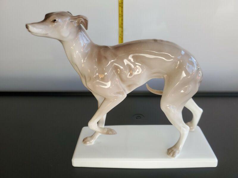 Vt. Large NORITAKE Bone China WHIPPET Greyhound Dog Toki Kaisha Vintage Japan
