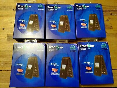 Tracfone Alcatel My Flip No Contract Cell Phone Lot of 6 Prepaid NEW Resell