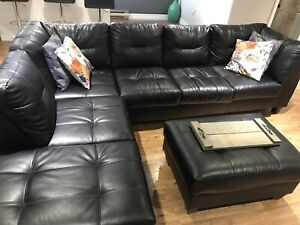 Leather sectional!!