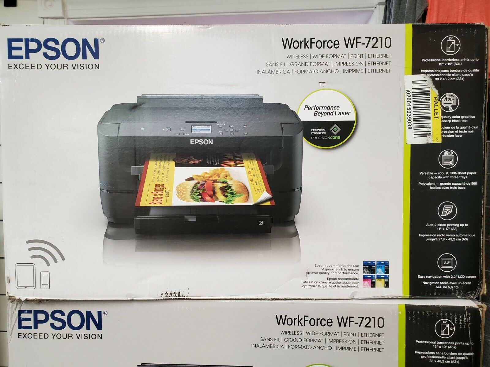 New Epson WorkForce WF-7210 Wireless Wide Format Color Print