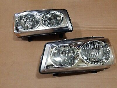 For 2003-2006 Chevy Silverado 1500 2500 3500/Avalanche Black Headlights