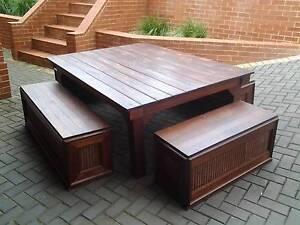 table designer plus 4 bench seats Port Elliot Alexandrina Area Preview
