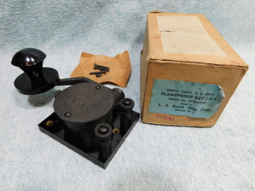 🔥RARE🔥 NEW US ARMY WWII FLAMEPROOF MILITARY MORSE CODE TELEGRAPH STRAIGHT KEY