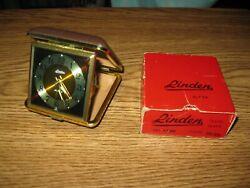 Vintage 1960's Linden Travel Alarm Clock No. 1530 Brown
