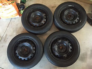 185/60R15 4x100 Rims and Tires -Goodyear / Firestone