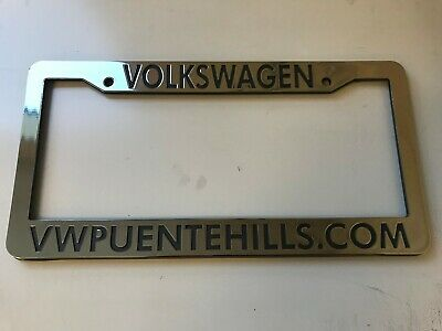 VW Volkswagen Puente Hills California Dealership License Plate Frame. Plastic. (Puente Hills California)