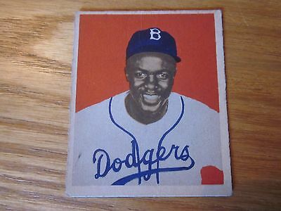 1949 Bowman Rookie Jackie Robinson Brooklyn Dodgers  50 Sharp Color