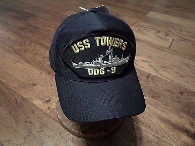 USS SAMPSON DDG-10 U.S NAVY SHIP HAT OFFICIAL MILITARY BALL CAP U.S.A MADE