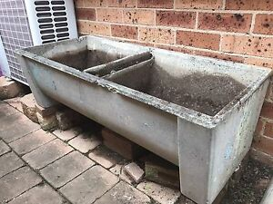 Free concrete planter box for the garden, old twin laundry tub Glenwood Blacktown Area Preview