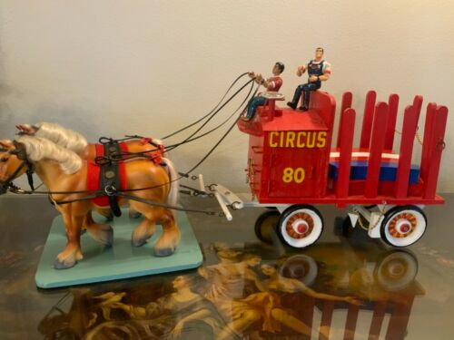 Vintage CIRCUS Custom hand made cart with horses