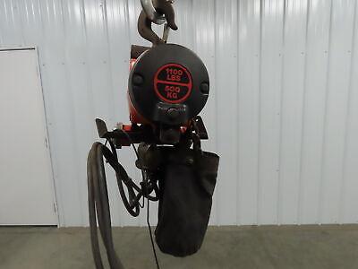 Gardner Denver Kg-5 1100lb Air Pneumatic Chain Hoist 14 9 Lift Travel Pendant