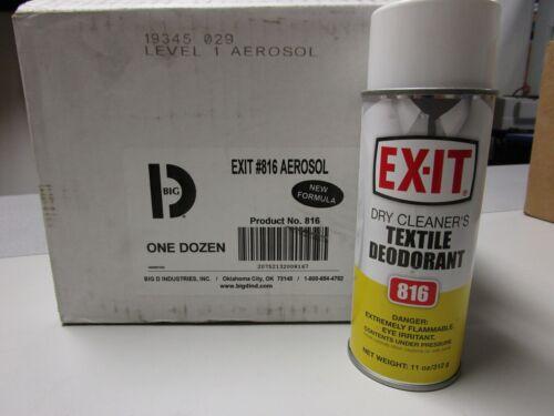 EX-IT DRY CLEANERS TEXTILE DEODORANT #816 - NEW - QTY. 12 - 11oz. AEROSOL CANS