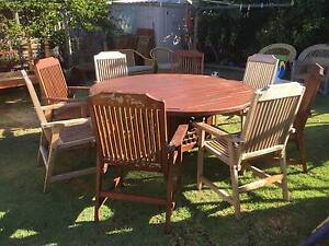 Old 8 Seat Timber Outdoor Setting Beckenham Gosnells Area Preview