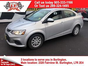 2018 Chevrolet Sonic LT, Automatic, Back Up Camera, 36,000km