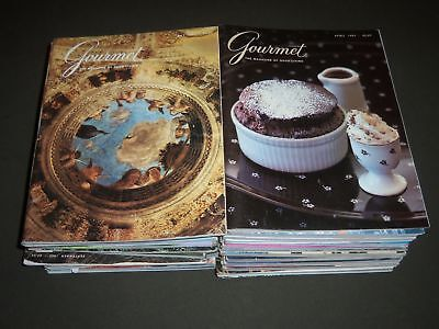 1980S-2000S GOURMET MAGAZINE OF LIVING LOT OF 34 ISSUES - GREAT COVERS - PB 865 Gourmet Magazine Covers
