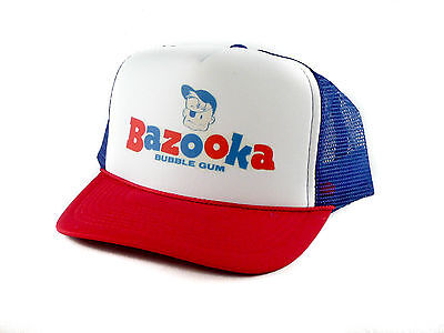 Vintage Bazooka Bubble Gum Trucker Hat mesh hat snapback hat rwb - Bazooka Bubble Gum