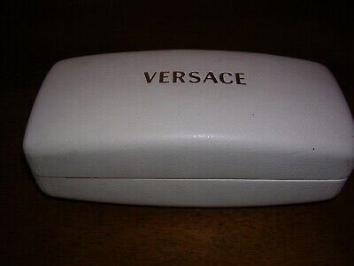 VERSACE Glasses White Hard Shell Case, Warranty Card, Cleaning Cloth