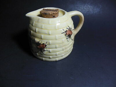 Vintage Tropic Bee Orange Blossom Honey Ceramic Container No Lid Yellow Florida