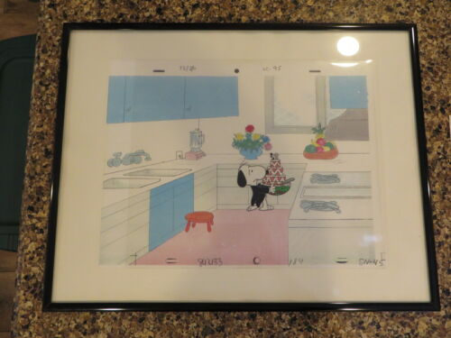 Peanuts Snoopy  Production Animation Cel Drawing Charles Schultz