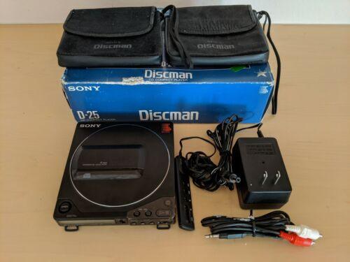 Sony D-25 / D-250 Discman IOB w/ RM-DM2 Remote, Refurbed BP-2 + BP-100 Batteries