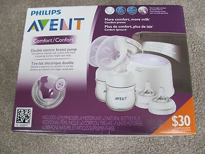 Brand New Philips AVENT Double Electric Comfort Breast Pump SCF334/12