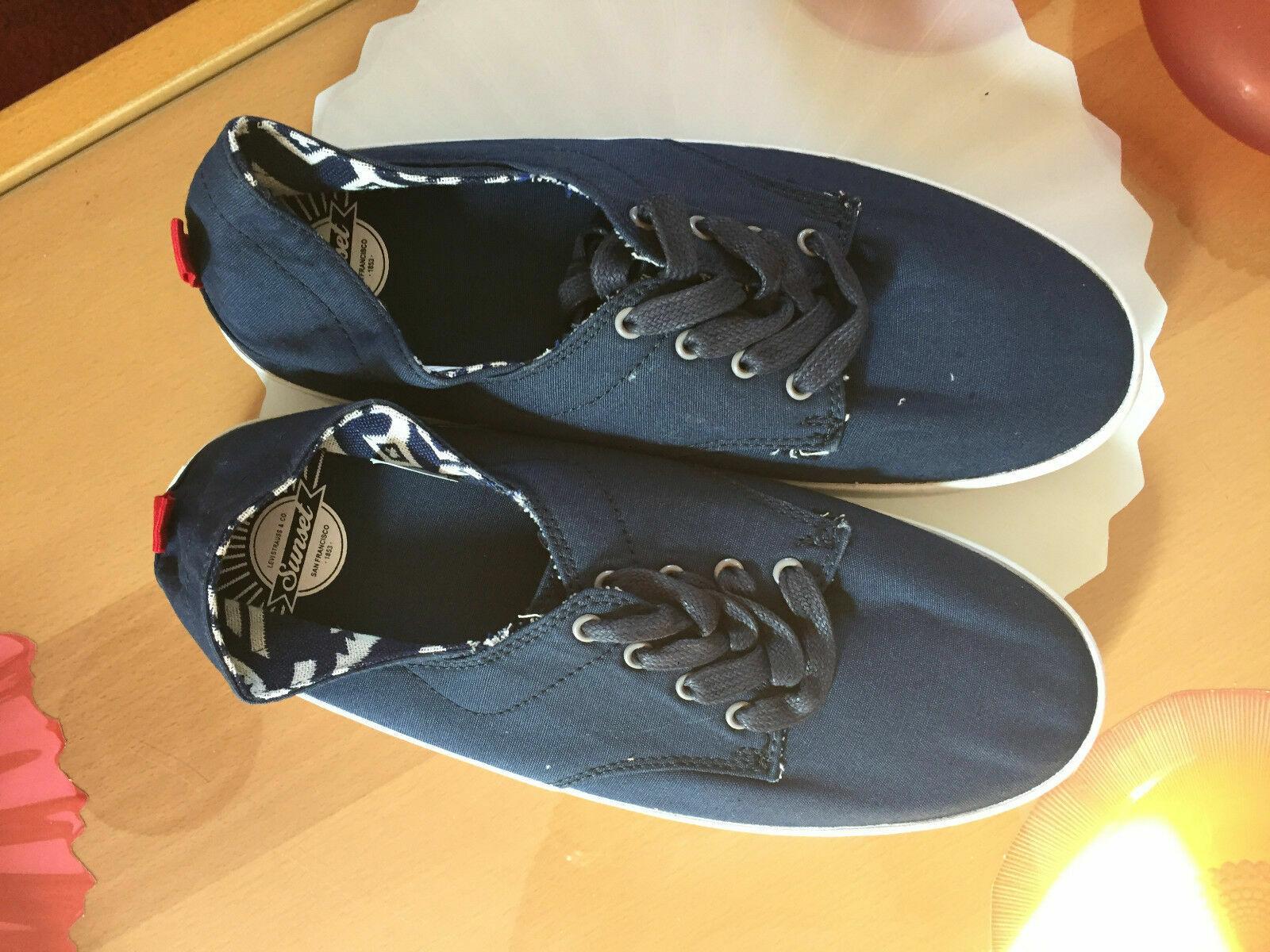 Chaussures tennis sneakers bleu marine levis 41 neuves