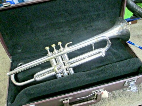 "Vintage Conn 40A Silver Connqueror ""Vocabell"" Long Cornet, Good Play Condition!"