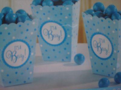 Ready to Pop Popcorn Favor Boxes; It's A Boy Baby Shower Favor Boxes; - Popcorn Boxes Baby Shower