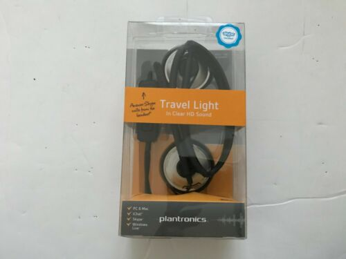 NEW! Plantronics Travel Light Audio 478 USB Stereo Headset 81962-21