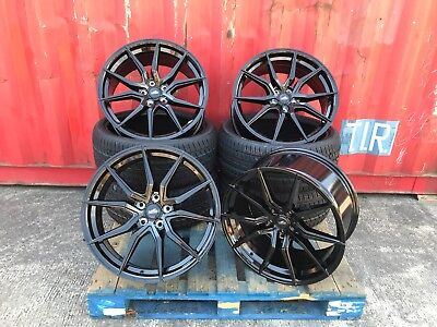 "Alloy Wheels 20"" TTRS SPYDER Style 850KG Rated VW Transporter T5 T6 + TYRES"