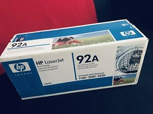 Original HP 92A C4092A Black Laser Toner Cartridge