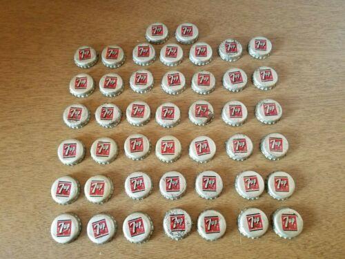 Big Lot of 44 Vintage 7 up Soda Pop Bottle Caps w/ Cork inserts