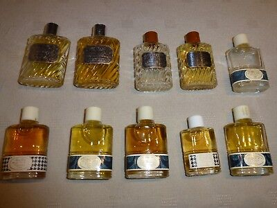 lot 10 miniatures parfum vintages grand couturier Christian D