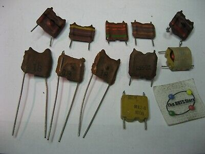 Coil Inductor Choke Radial Pcb Mount Assorted - Nos Qty 10