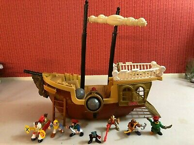 Vintage 1994 Fisher-Price Great Adventure Pirate Ship 7043 Figures Rare 90s