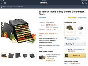 Excalibur Food Dehydrator WITH TIMER