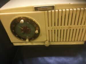 Antique tube clock radio