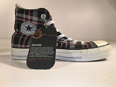 Converse Plaid Sneakers (Converse - CT Grunge HI Chuck Taylor All Star, Sneaker Grey Plaid - 36,5 - NEU)